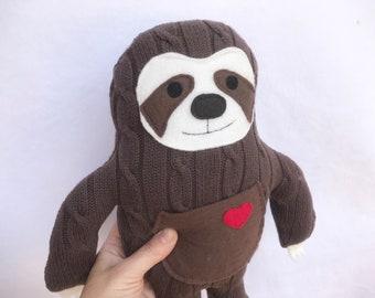 Sloth stuffed animal plushie eco friendly