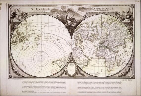 Old world map vintage maps atlas map globe world map print gumiabroncs Images