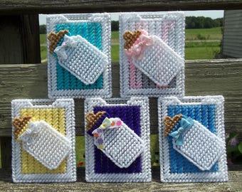 Plastic Canvas Gift Card Holder, Baby Bottle Gift Card Holder, Baby Shower Gift, New Mom Gift, Gift Card Holder, Money Holder, New Baby Gift