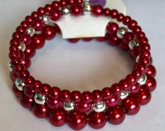 Handmade beaded memory wire bracelets