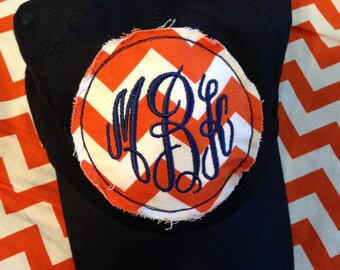 Personalized Womens Baseball Cap, Chevron, Monogram, Initial