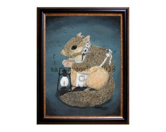 Victorian Flying Squirrel Nurse Print