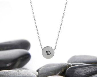 Lotus Necklace, Lotus Flower Necklace, Lotus Jewelry, Lotus Flower Jewelry, Yoga Jewelry, Lotus Flower, Sterling Silver, Lotus