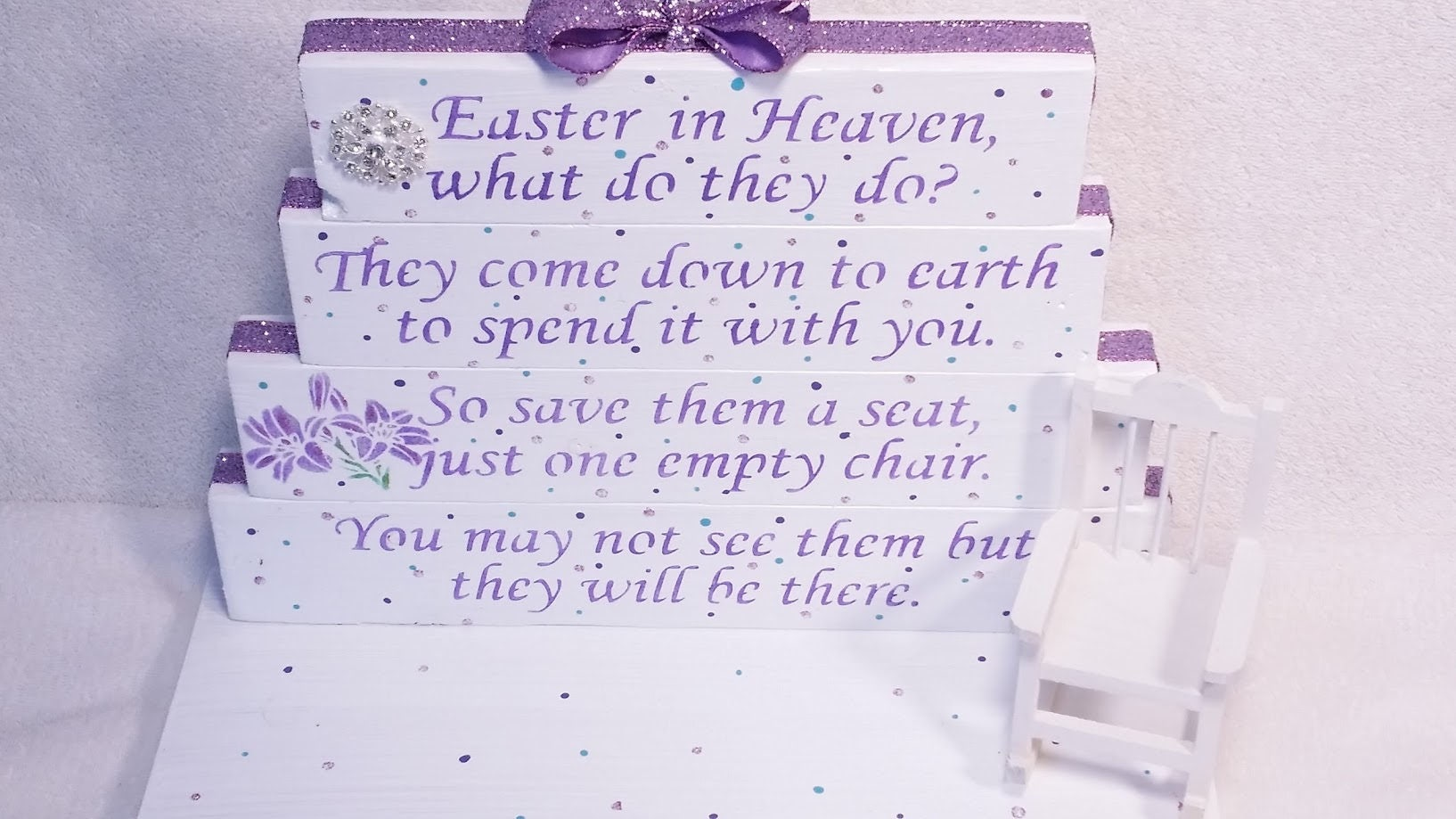 Loss Of A Loved One Quotes And Poems Easter In Heaven Poem Table Top Display Handmade Memorial
