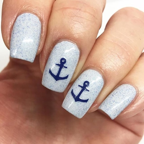 20 anchor vinyl nail decals for nautical nail art. Available in 20 ...