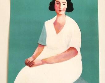 Alida / Big print - woman PORTRAIT ART PRINT