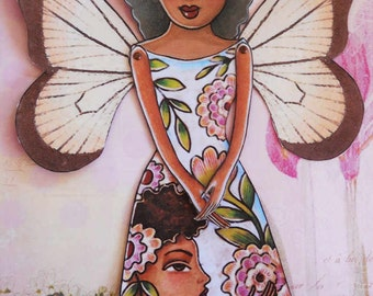Printable Butterfly Fairy Paper-doll