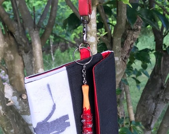 The Walking Dead Negan Silhouette Wristlet, Clutch with Lucille Keychain