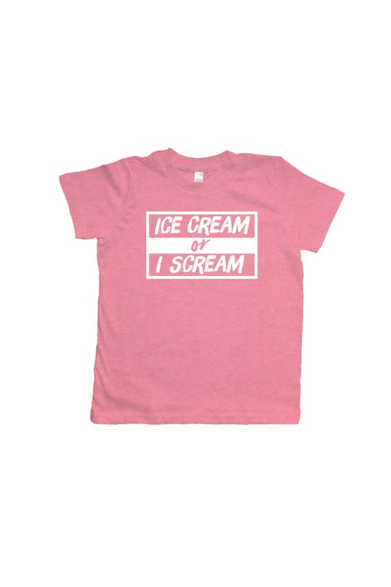 Camiseta helado niño ropa de verano helado o gritar rosa