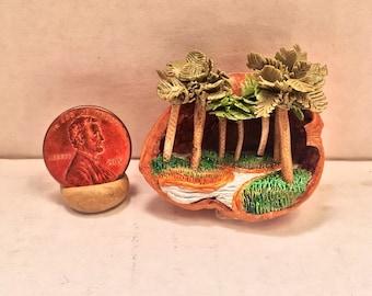 Marsh Diorama in a Walnut Shell