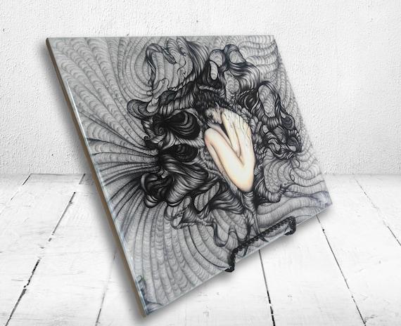Embraced - Print on Ceramic