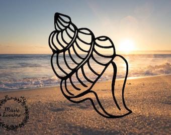Conch Shell - Conch Sticker - Beach Decal - Beach Life - Car Decal - Seashell Sticker - Mermaids - Laptop Sticker - Shells - Mermaid Decal