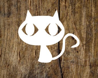 Wide-Eyed Cat Decal