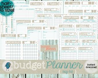 BUDGET Planner (BIG-kit): A5/Half-Sheet Sized, Printable Budget & Planning Forms, Instant Download!