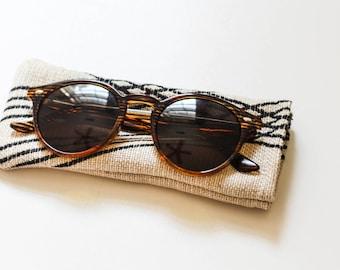 Striped Sunglass Pouch