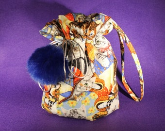 Wristlet / Dolly bag / Crazy Cat Lady bag