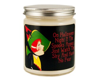 Halloween Candle, Scented Candle, Soy Candle, Vintage Halloween, Container Candle, Witch Candle, Halloween Decor, Fall Candle