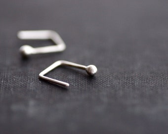 Sterling Ball Studs with Unique Tail