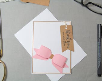 Business Thank You Card - Small Business Cards - Small Business Tags - Bow Maker Tags - Card Tags - Handmade Seller Cards - Thank You Tags
