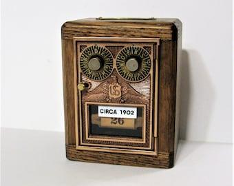 Post Office Box 1902 Dual Dial Door Bank Safe Antique Door Combination Lock