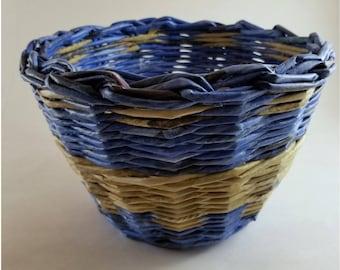 Blue & Khaki Bowl