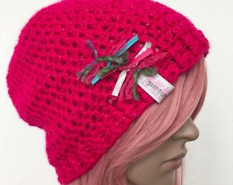 Hand Crochet Slouch Beanie