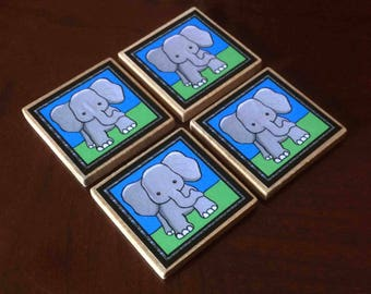 Cute Elephant Magnets (set of 4)