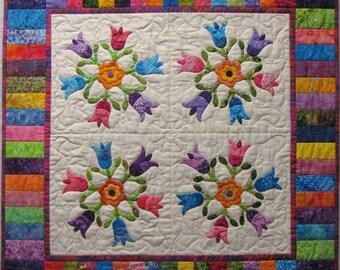 Batik Tulips Vintage Reproduction Quilt Pattern