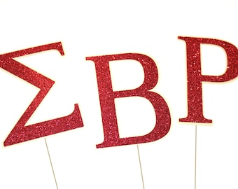 College Photo Booth Props ~ Sorority Props ~ Fraternity Props ~ Greek Symbols ~ You choose Colors!