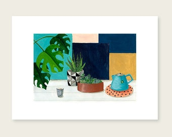 Tea time - Art print - 8,2 X 11,8'' - 21 X 29,7 cm