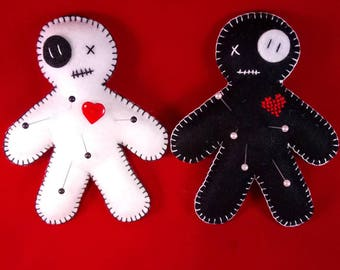 Voodoo doll pin cushion - 2 colours available