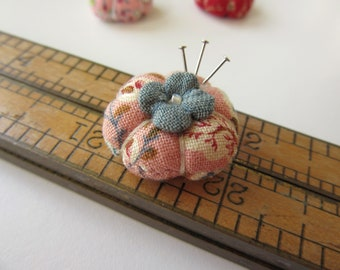 Miniature Pincushion - MADE for YOUR DOLL in Vintage Pink - Larger Sized