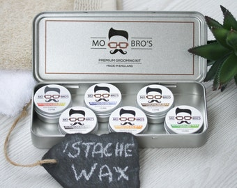 Mo Bro's - Moustache Wax 15ml Tin Made in England - 6 Different Scents