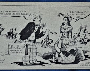 Cheet-Em_Rite Insurance Company Dude Larsen 1949 Hoke Denetsosie Navajo Indian Artist