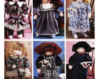 Simplicity Sewing Pattern 8688 Stuffed Doll and Clothes  One Size  Uncut
