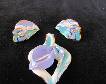 One of a Kind, Artist made pendant and earrins