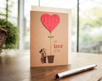 """Greeting Card/ """"Let love grow!"""""""