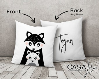 Scandinavian Nursery/ Scandinavian Cushion/ Monochrome Nursery/ Minimalist Nursery Decor/ Personalised Nursery Decor/ Personalised Cushion