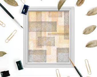 Blush Geometric Print, Geometric Art, Abstract Print, Geometric Art Print, Digital Art Print, Bauhaus Wall Art, Bauhaus Print, Rectangle Art