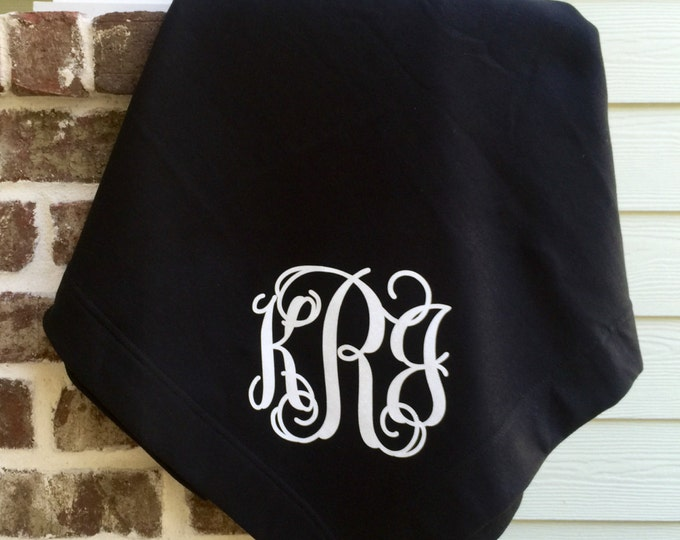 Monogram blanket, Monogrammed blanket, Monogrammed throw, Monogrammed gifts, Personalized gift, Graduation Gifts, Bridesmaid Gifts