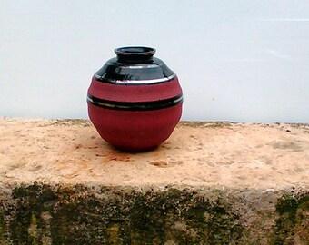 Ceramic vase bicolor vintage