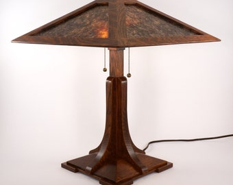 Syracuse I Lamp - a Craftsman mica lamp in the Limbert and Stickley style