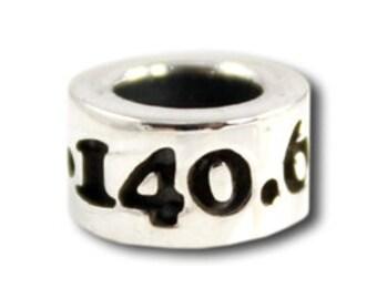 "140.6 Ironman Bead ""140.6"" Triathlon Jewelry Sterling Silver"