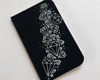 Hand Drawn Diamonds Pocket Notebook