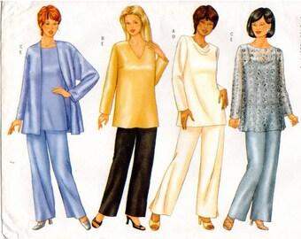 UNCUT Butterick Pattern 6892 - Women's/Women's Petite Very Easy Jacket, Top & Pants - Plus Sizes - 16W-20W