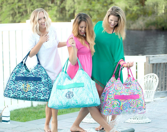 Monogrammed Beach Bag, Oversized Beach Bag, Bridesmaid Gifts, Bridesmaid Gifts, Group Discounts, Monogram Beach Tote
