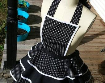 Women's Apron Polka-Dot with Petticoat  XS S M L XL 2XL
