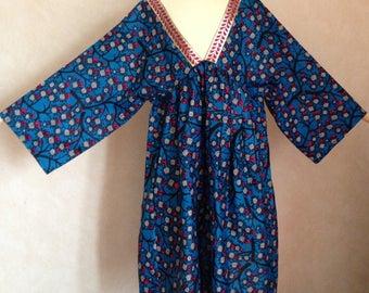Dress tunic in wax or African fabric