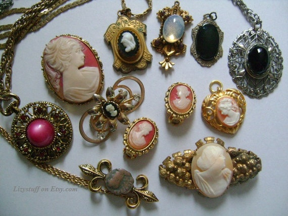 11 piece vintage antique victorian neoclassical accessories aloadofball Images