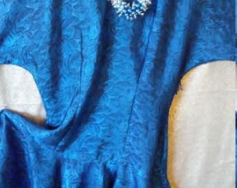 Midnight Blue & Black Party Dress/ Size 8/10